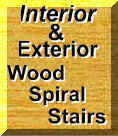 Interior and Exterior Wood Spiral Stairs