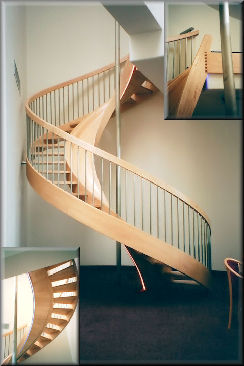 11  HT with custom slideWooden Spiral Stairs  custom made by Unique Spiral Stairs. Exterior Wood Spiral Staircase. Home Design Ideas