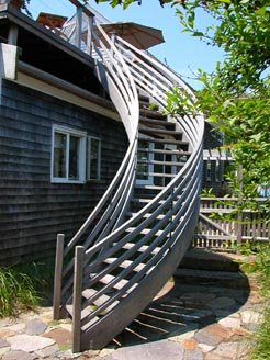 GO Green products include this recovered  dead head  cypress exterior deck  staircase   oneSpiral Stair Options. Exterior Wood Spiral Staircase. Home Design Ideas