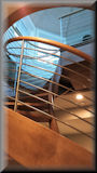 6 - 0 Maple with stainless horizontal balustrade system
