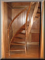 "7' 0"" HT Birch stringers and rails with White Oak treads"