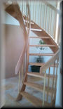 "8' 0"" Red oak with alternating balusters"