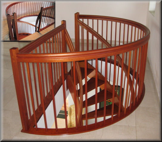 William S Woodworks Wood Stairs: Spiral Stairs Custom Made By Unique Spiral Stairs