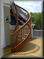 "8' 6"" Mahogany with square balusters"