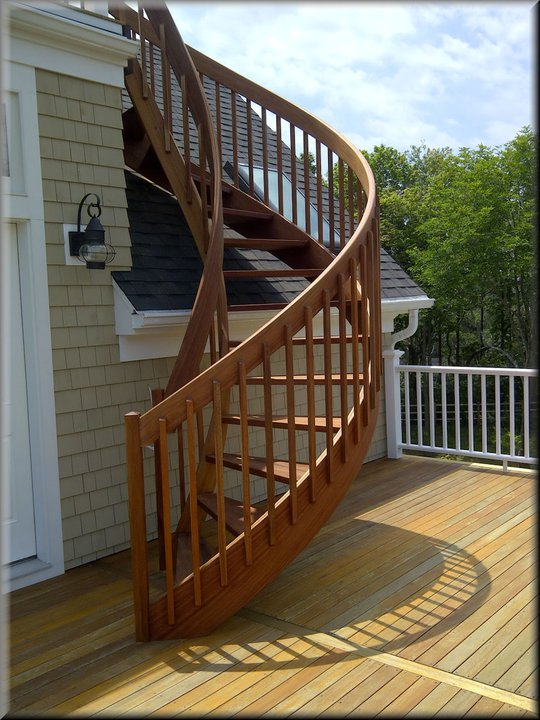 Handrail and baluster profile options for Spiral staircase square