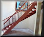 Genuine Mahogany 17 ft QT series with Bamboo balusters_sculptured treads and profiled rails