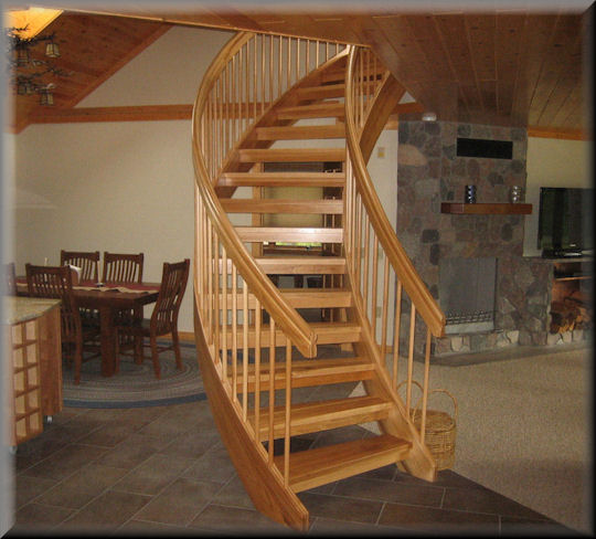 Custom Curved Stairs: By Unique Spiral Stairs
