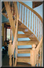 Maple 7-0 Ht with turned newels and balusters