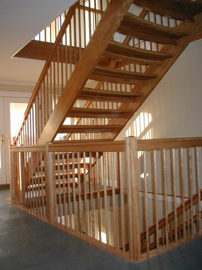 Custom Curved Stairs By Unique Spiral Stairs