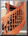 "Optional Square balusters with 5 1/2"" deep rails"