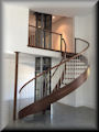 Walnut 11 ft HT with stainless balusters and round rails
