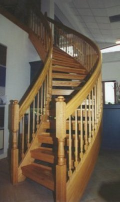 Unique spiral stairs style for Half spiral staircase